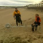 Mark instructs Shona on the Ergo rower