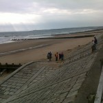 The volunteers start the Beach Clean-up