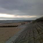 Aberdeen beach on a grey morning
